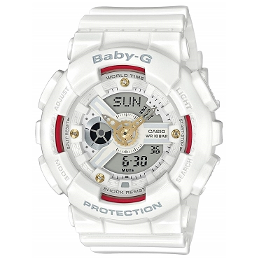 Casio Baby-G BA-110DDR-7AJF Women's Watch with Natural Diamonds - JDM (Japanese Domestic Market) Model