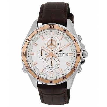 Casio Edifice EFR-547L-7AV Chronograph Silver Dial 10 ATM Quartz Men's Watch EFR-547L-7AVUDF