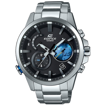 Casio Edifice EQB-600D-1A2JF Time Traveller Tough Solar Mobile Link Men's Watch - JDM (Japanese Domestic Market) Model
