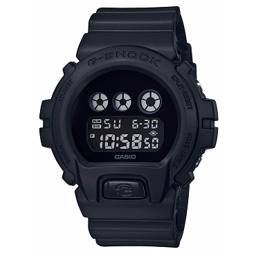 Casio G-Shock DW-6900BBA-1JF All Black Classic Matte Shock Resistant 20 ATM Men's Watch - JDM (Japanese Domestic Market) Model