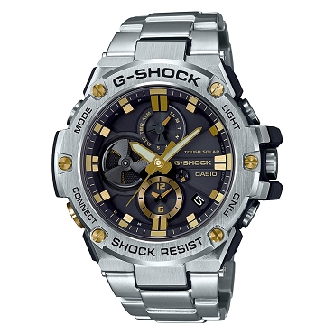 Casio G-Shock G-Steel GST-B100D-1A9JF Tough Solar Mobile Link Men's Watch iOS Android - JDM (Japanese Domestic Market) Model