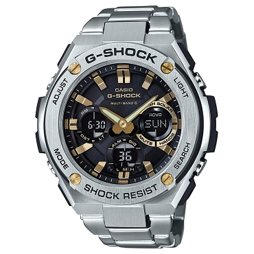 Casio G-Shock G-Steel GST-W110D-1A9JF Tough Solar Multiband 6 Men's Watch - JDM (Japanese Domestic Market) Model