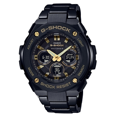 Casio G-Shock G-Steel GST-W300BD-1AJF Tough Solar Multiband 6 Men's Watch - JDM (Japanese Domestic Market) Model