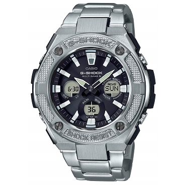 Casio G-Shock G-Steel GST-W330D-1AJF Tough Solar Multiband 6 Men's Watch - JDM (Japanese Domestic Market) Model