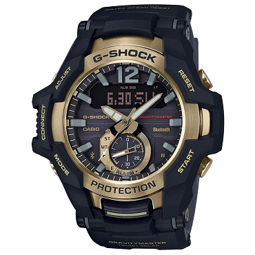 Casio G-Shock GR-B100GB-1AJF Gravitymaster Black and Gold Series Tough Solar Bluetooth Mobile Link Men's Watch - JDM (Japanese Domestic Market) Model
