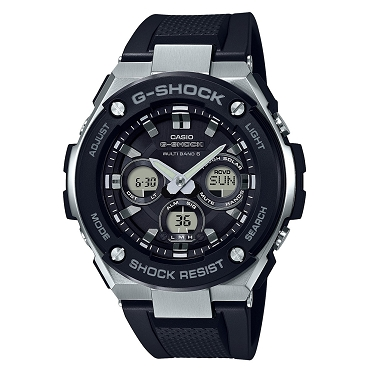Casio G-Shock G-Steel GST-W300-1AJF Tough Solar Multiband 6 Men's Watch - JDM (Japanese Domestic Market) Model