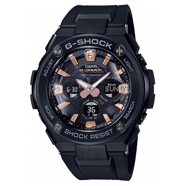 Casio G-Shock G-Steel GST-W310BDD-1AJF Precious Heart Selection Tough Solar Multiband 6 Men's Watch with Natural Diamonds - JDM (Japanese Domestic Market) Model