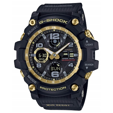 Casio G-Shock GWG-100GB-1AJF Mudmaster Black Gold Tough Solar Multiband 6 Men's Watch - JDM (Japanese Domestic Market) Model