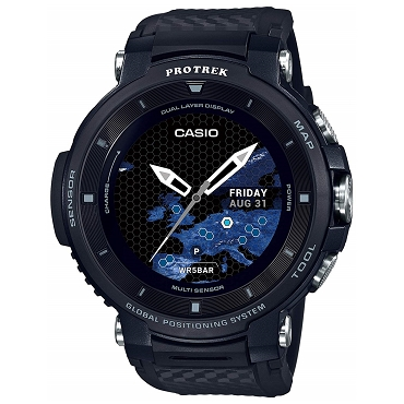 Casio Protrek WSD-F30-BK Smart Outdoor GPS Wear OS by Google Watch Black - JDM (Japanese Domestic Market) Model