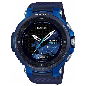 Casio Protrek WSD-F30-BU Smart Outdoor GPS Wear OS by Google Watch Blue - JDM (Japanese Domestic Market) Model