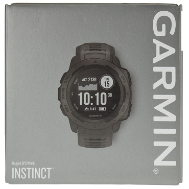 Garmin Instinct Outdoor Rugged GPS Multisport Watch with Wrist-based HRM - Graphite