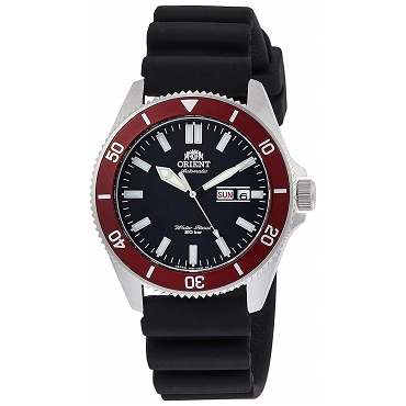 Orient Sports RN-AA0008B Automatic Mechanical 20 ATM Diver Black Dial Men's Watch - JDM (Japanese Domestic Market) Model