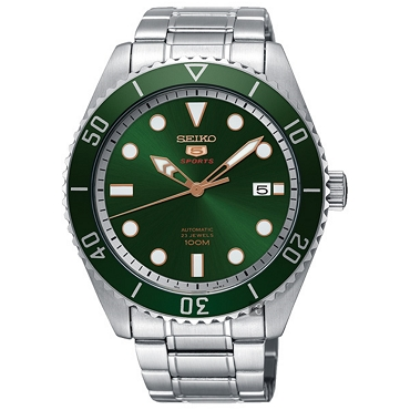 Seiko 5 SRPB93J1 SRPB93J Automatic 23 Jewels Green Dial Stainless Steel Men's Watch - Made in Japan