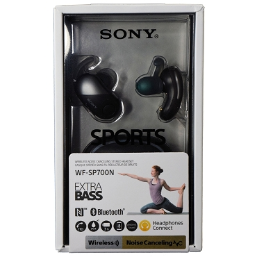 Sony WF-SP700N Sports True Wireless Bluetooth NFC Digital Noise Canceling Earbuds Headphones - Black