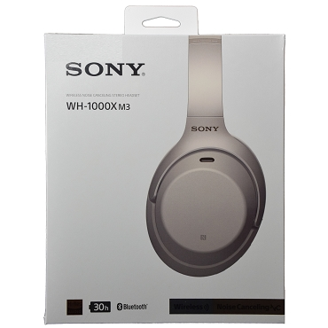 Sony WH-1000XM3 WH1000XM3 Truly Wireless Bluetooth NFC Over-ear Noise-canceling Headphones - Silver