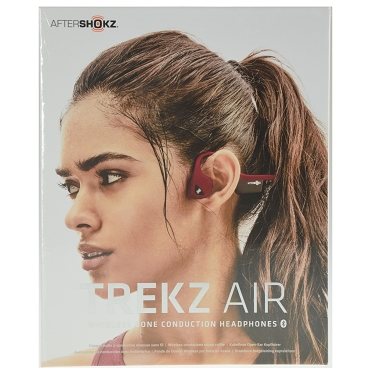 Aftershokz Trekz Air Open Ear Bone Conduction Wireless Bluetooth 4.2 Headphones - Canyon Red