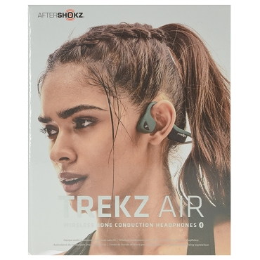 Aftershokz Trekz Air Open Ear Bone Conduction Wireless Bluetooth 4.2 Headphones - Forest Green