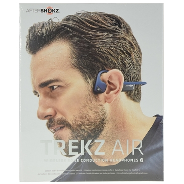 Aftershokz Trekz Air Open Ear Bone Conduction Wireless Bluetooth 4.2 Headphones - Midnight Blue