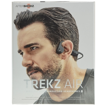 Aftershokz Trekz Air Open Ear Bone Conduction Wireless Bluetooth 4.2 Headphones - Slate Grey
