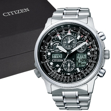 Citizen Promaster Sky PMV65-2271 Eco-drive Atomic Perfex Multi 3000 Chronograph Men's Watch - JDM (Japanese Domestic Market) Model