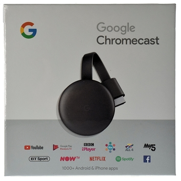 Google Chromecast 3 Digital HDMI Media Video Streamer 2018 Charcoal GA00439-US