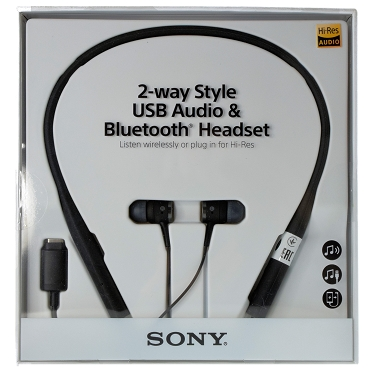 Sony SBH90c 2-way Listening Style USB Hi-Res Audio Bluetooth Neckband Headset - Black