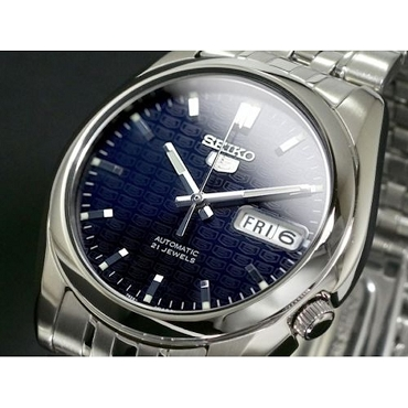 Seiko 5 SNK357K1 SNK357 Automatic 21 Jewels Dark Blue Dial Stainless Steel Men's Watch
