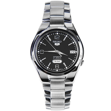 Seiko 5 SNK623 SNK623K1 Automatic 21 Jewels Black Dial Stainless Steel Men's Watch