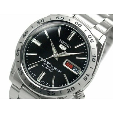 Seiko 5 SNKE01K1 SNKE01 Automatic 21 Jewels Black Dial Stainless Steel Men's Watch