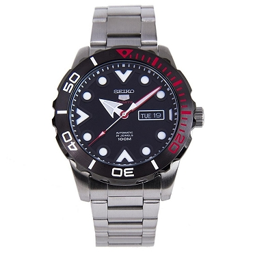 Seiko 5 SRPA07J1 Automatic 24 Jewels Black Dial Stainless Steel Men's Watch - Made in Japan