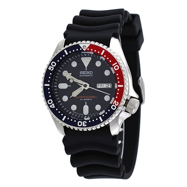 Seiko SKX009J1 21 Jewels Analog Japanese-automatic Blue Dial Black Rubber 200m Diver's Men's Watch Made In Japan