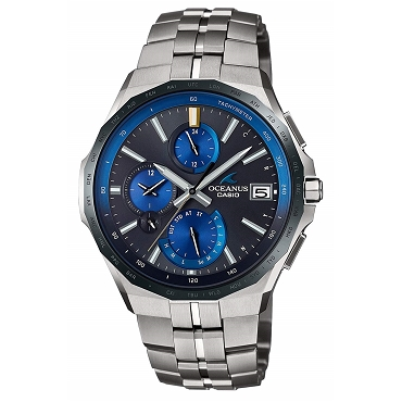 Casio OCEANUS OCW-S5000E-1AJF Manta Titanium Slim Case Elegant Chrono Tough Solar Multiband 6 Bluetooth Smart Access Men's Watch - JDM (Japanese Domestic Market) Model