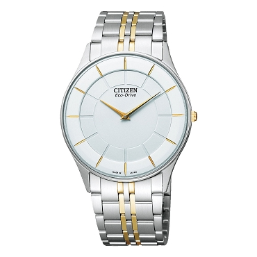 Citizen Collection AR3014-56A Eco-Drive Stiletto White Dial Stainless Steel Super Thin Men's Watch - Made in Japan