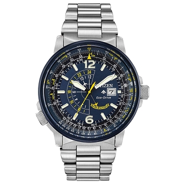 Citizen Promaster Sky Blue Angels Nighthawk BJ7006-56L Eco-Drive Blue Dial Dual Time Men's Watch