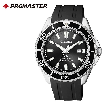 Citizen Promaster BN0190-15E Eco-Drive Black Dial Stainless Steel Case Black Rubber Strap Men's Watch