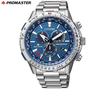 Citizen Promaster Sky CB5000-50L Eco-Drive Direct Flight Radio Controlled Blue Dial Chronograph Men's Watch