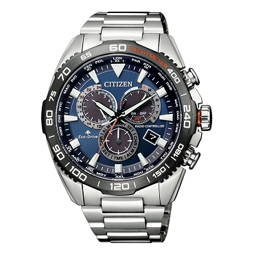 Citizen Promaster Land CB5034-82L Eco-Drive Radio Controlled Blue Dial Perpetual Calendar Chronograph Men's Watch