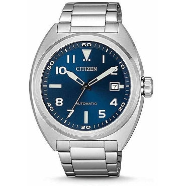 Citizen Mechanical NJ0100-89L 21 Jewels Automatic Blue Dial Stainless Steel Strap Men's Watch