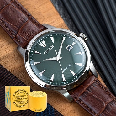 Citizen NK0001-25X Automatic PARAWATER KUROSHIO'64 Dark Green Dial Men's Watch Asia Limited Edition