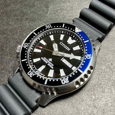 Citizen Promaster NY0111-11E Automatic Mechnical Fugo Left Crown Limited Edition BlackNavy Men's Watch