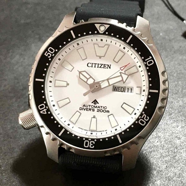 Citizen Promaster NY0118-11A Automatic Mechnical Fugo Left Crown Limited Edition White Dial Men's Watch