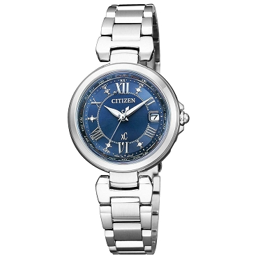 Citizen xC EC1030-50L HAPPY FLIGHT Eco-Drive Radio Controlled Blue Dial Ladies Watch