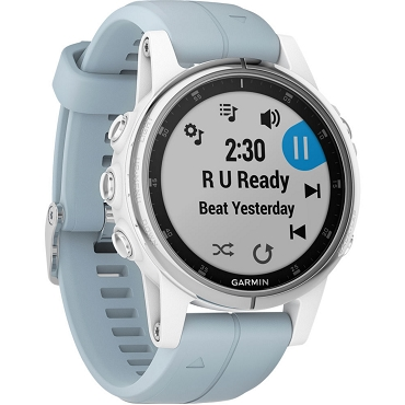 Garmin fenix 5s Plus Multi-sport Training GPS Watch (42mm, White with Sea Foam Band) 010-01987-61 (English / Chinese)