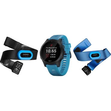 Garmin Forerunner 945 Music Premium GPS Running / Triathlon Smartwatch Tri-Bundle - Blue