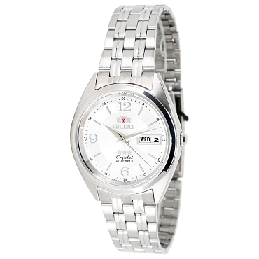 Orient FAB0000EW9 Tri Star 21 Jewels 37 mm Silver Dial Stainless Steel Men Watch