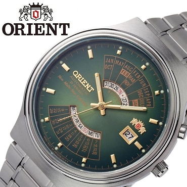 Orient FEU00002FW Multi Year Perpetual Automatic Green Dial Japan Movt Men's Watch