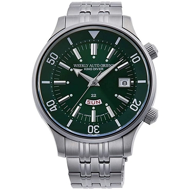Orient Weekly Auto KING DIVER RA-AA0D03E1HB Automatic Green Dial Stainless Steel Men's Watch