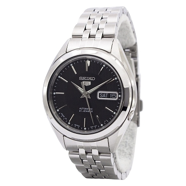 Seiko 5 SNKL23J1 SNKL23 Automatic 21 Jewels Black Dial Stainless Steel Men's Watch - Made In Japan