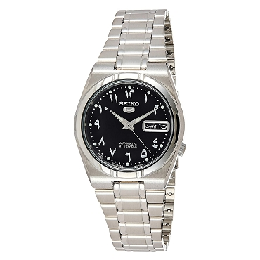 Seiko 5 SNK063J5 SNK063 Automatic 21 Jewels Black Dial Stainless Steel Men's Watch