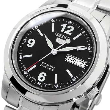 Seiko 5 SNKE63 SNKE63J1 Automatic 21 Jewels 38 mm Black Dial Stainless Steel Men's Watch